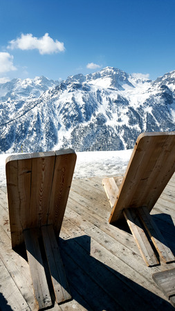 deckchairs in the mountains