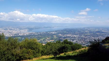Panorama lake of geneve