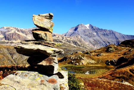 Cairn stacked rocks Stock fotó