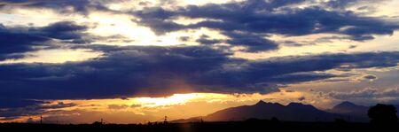 Sunset on the mountain Stock fotó