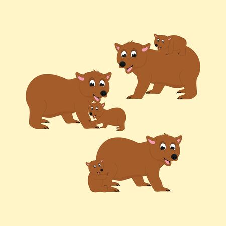 cute bear animal illustration design 向量圖像