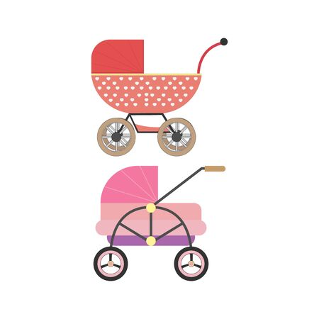 baby stroller clipart illustration design Vettoriali