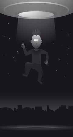 abduction: Sci-Fi Alien Abduction Illustration