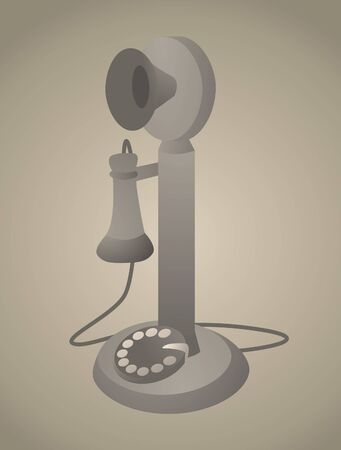Vintage Phone / Antique Old Telephone Stock Vector - 19111801