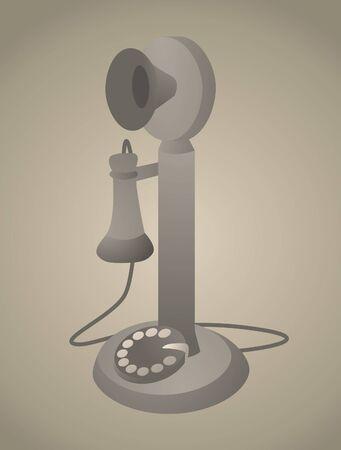 revivalism: Vintage Phone  Antique Old Telephone Illustration