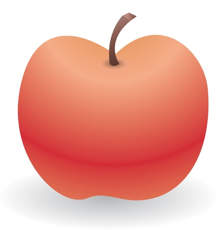 Lone red apple Stock Vector - 19111816