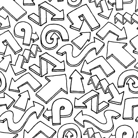 Seamless arrow vector pattern / Hand drawn background Stock Vector - 19111865