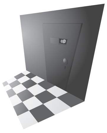 peephole: Top secret back door entrance Illustration