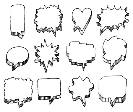 Set of vector speech bubbles with volume Illustration