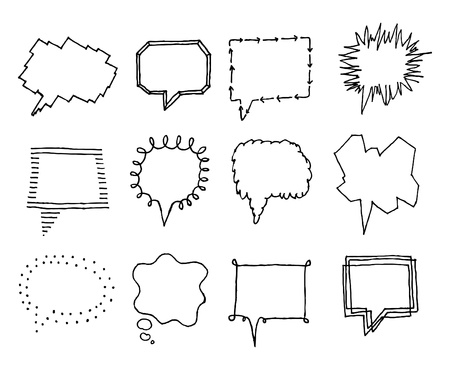 whispering: Set of speech bubbles with personality 2