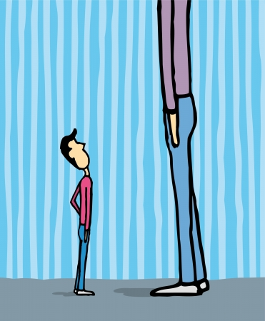 tall and short: Growth  Looking up and wishing