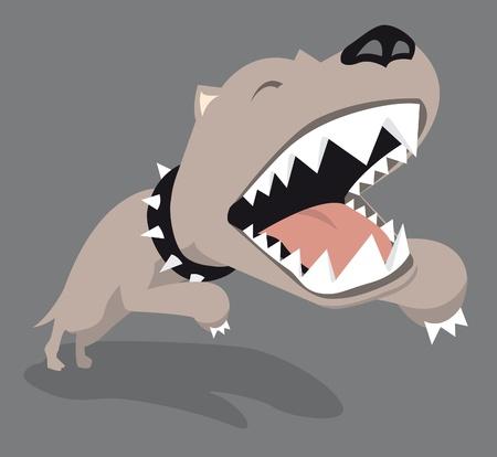 Big dog jumping Stock Vector - 19111784