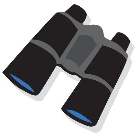 Black binoculars Stock Vector - 19111983
