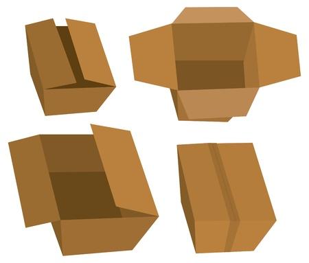 shoe box: Set of cardboard boxes