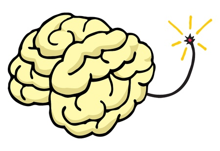 Brain about to explode Blow your mind Illustration