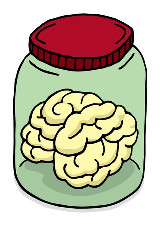 Brain in a jar Vector