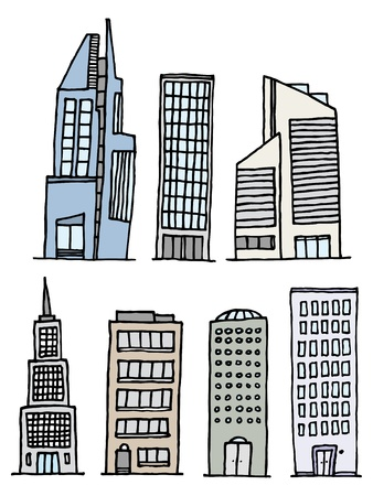 Buildings Handwritten Set / Sketchy Architecture Stock Vector - 19111853