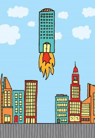 taking off: Edificio teniendo frente a  Crecimiento empresarial