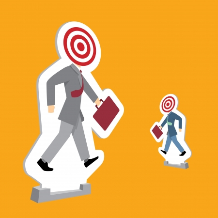 Businessmen standing as targets Stock Vector - 19111995