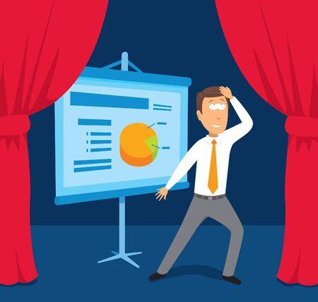Businessman performing presentation