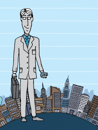 Businessman in the city with copyspace Stock Vector - 19111931