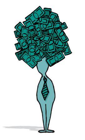 Businessman ambitious idea   Business money concept Stock Vector - 19111832