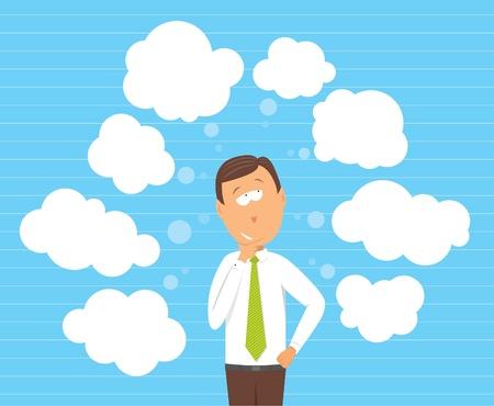 considering: Businessman considering options