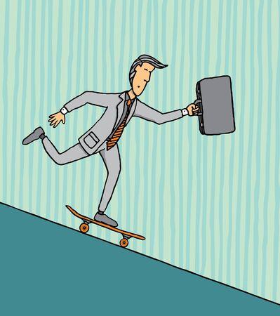 risky: Risky business downhill