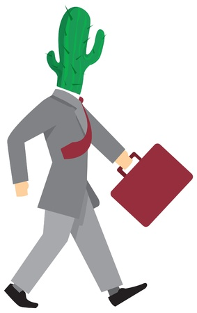 walking alone: Hombre de negocios codicioso caminar solo Vectores