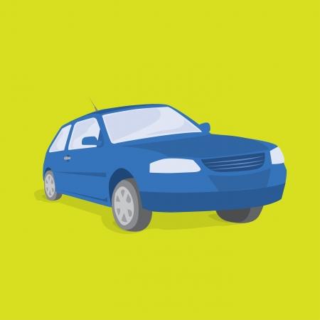 diminishing point: Blue car  Land Transportation Vehicle