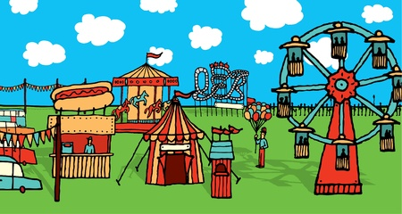 Cartoon carnival Vector