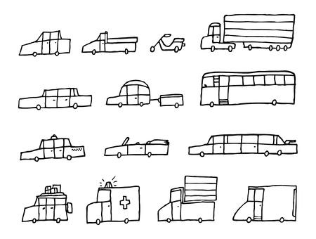 Cartoon cars / Funny transportation vehicles Stock Vector - 19128006