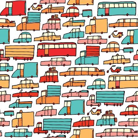 mode of transportation: Auto Cartoon seamless
