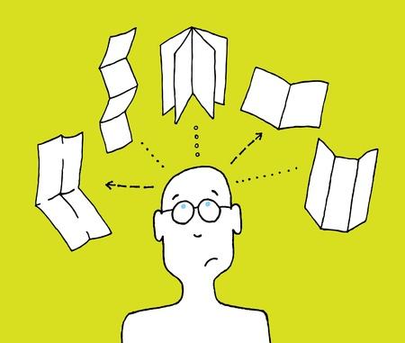 formato: Designer escolher formato de impress Ilustra��o