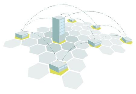 본사 및 지점  건축 사무실 네트워크