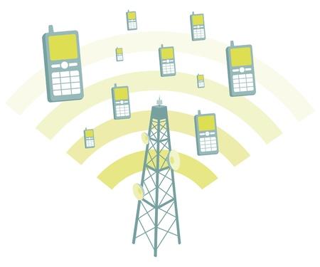 microwave antenna: Antena transmtting tel�fonos m�viles