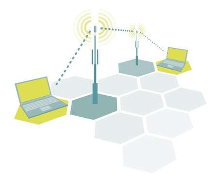 microwave antenna: Conexi�n de ordenadores port�tiles  de comunicaci�n de red inal�mbrica sencilla