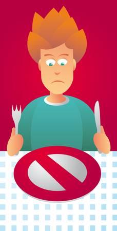 carb: On a Diet  Forbidden food Illustration