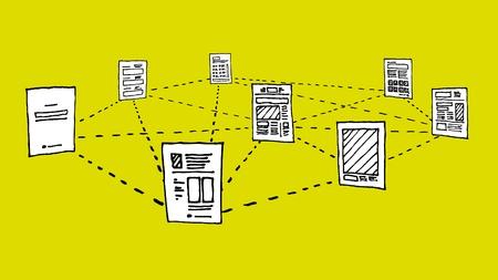 Document network   Information data exchange Stock Vector - 19128141