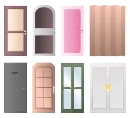 doorframe: Conjunto de puertas icono Vectores