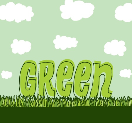 Green with copyspace / Clean environment Stock Vector - 19128328