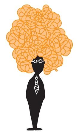 Creative character / Mistery hair Stock Vector - 19128007