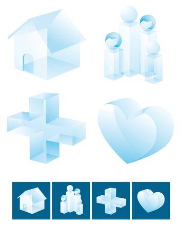 Icon set / Family values Stock Vector - 19150630