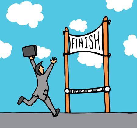 Businessman reaching goal Stock Vector - 19150759