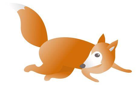 Running fox Stock Vector - 19150592