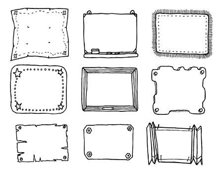 floor mat: Hand drawn vector frame set