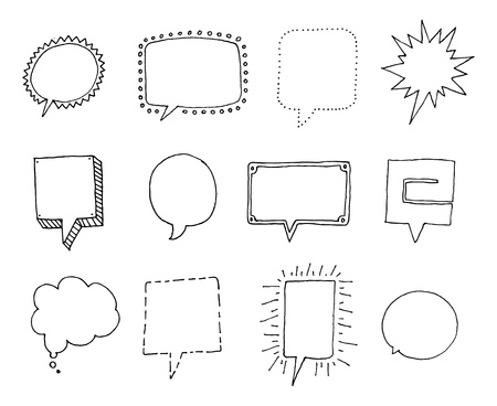 Set of Speech bubbles with personality Vector