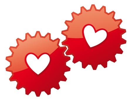 Valentine card heart icon  Love concept feelings