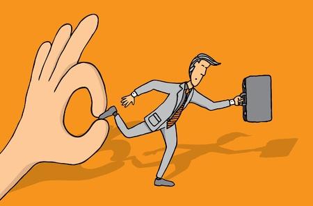 mani legate: Mantenere imprenditore di progredire Vettoriali