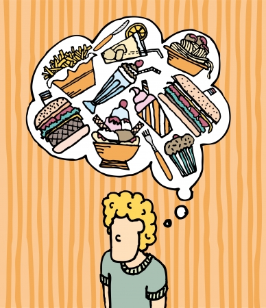 Hungry Munchies  Fast Food Illustration